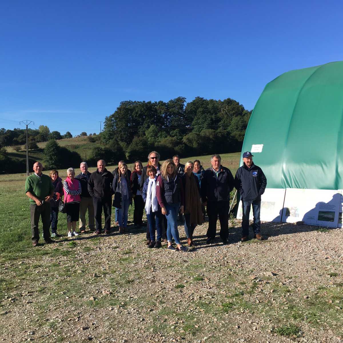 NSA members arrive at Du Mourier Farm near Limoges