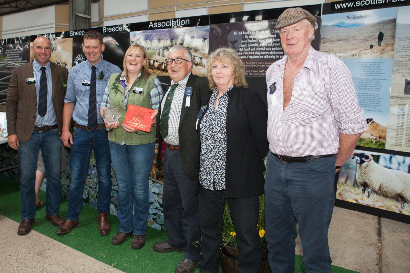 Best Breed Society Stand winners, Blackface Sheep Breeders Association